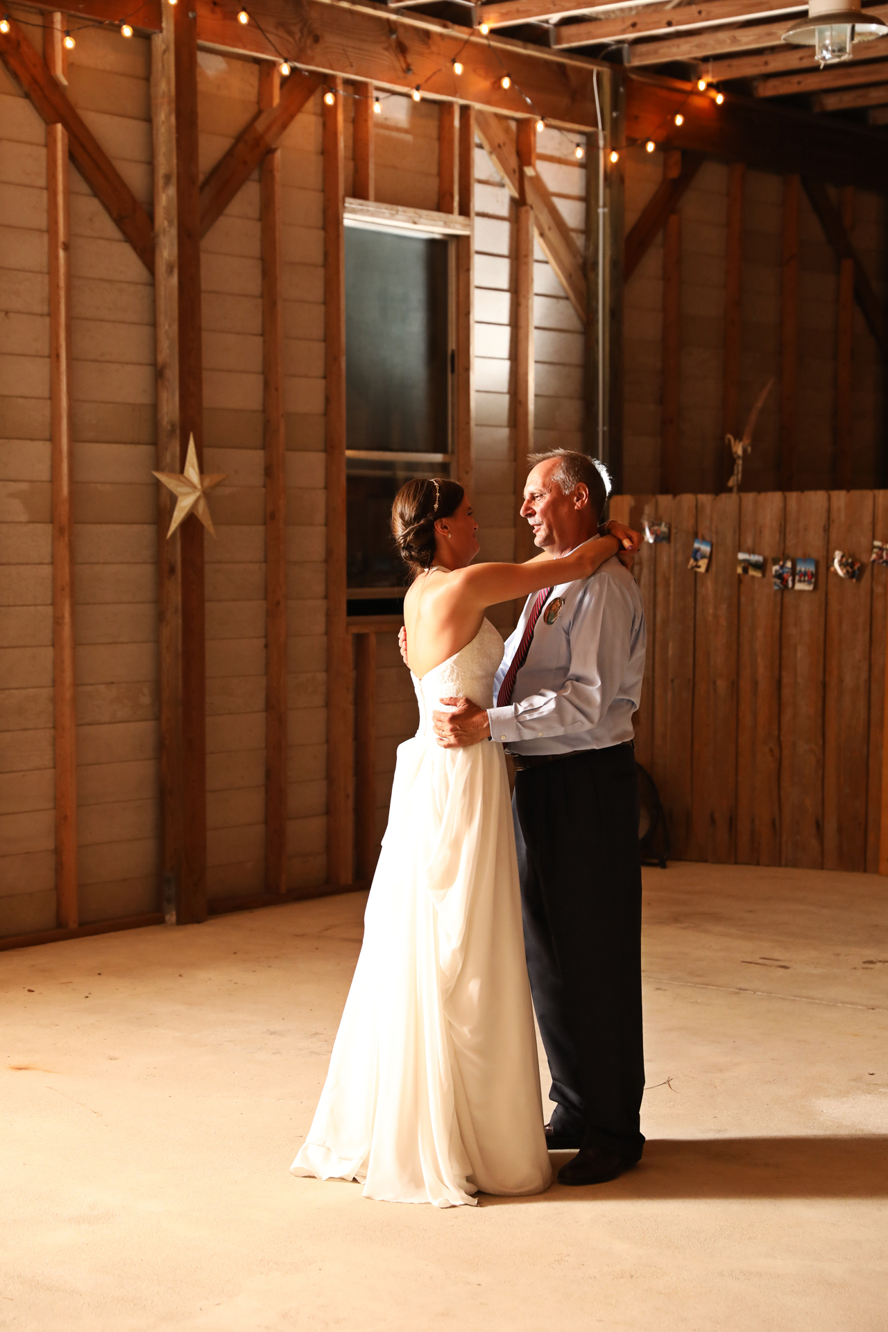Country Farm Wedding father daughter